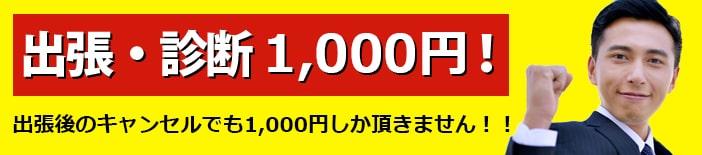 出張・診断1,000円
